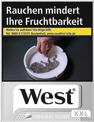 West Silver (Stange / 8x25 Zigaretten)