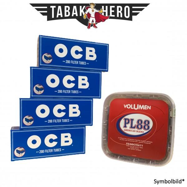 400g PL88 Red Tabak , 800 OCB Hanf Hülsen (Stopftabak Volumentabak)