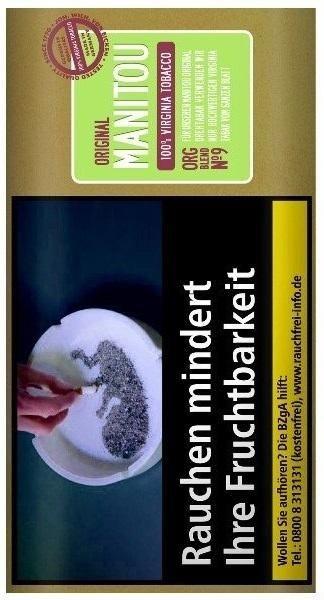 5x Manitou Organic Green No9 Tabak 30g Pouch (Drehtabak / Feinschnitt)