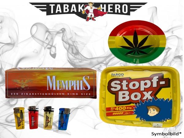 190g Fargo Stopfbox gelb Tabak, 250 Hülsen, Zubehör Stopftabak, Cannabis-AB