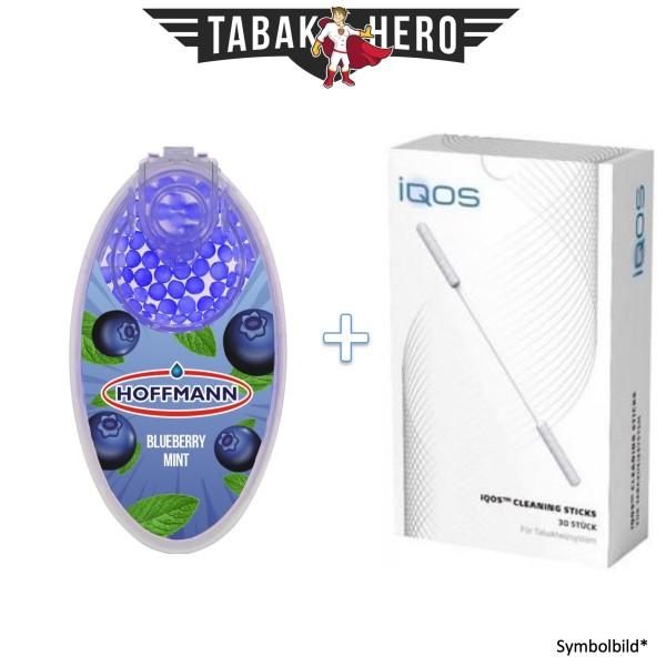 HEETS / IQOS Cleaning Sticks + 1x Aromakugeln Blueberry Mint 100 stk.