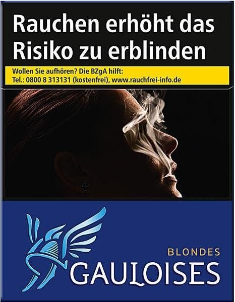 Gauloises Blondes Blau (Stange / 4x39 Zigaretten)