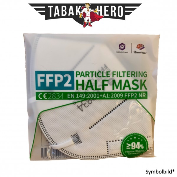 2 Stück FFP2-Maske, Medizinische Maske, zertifiziert