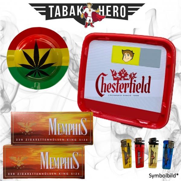 260g Pall Mall Allround Red GIGA Box Tabak, 500 Hülsen, Stopftabak, Cannabis-AB