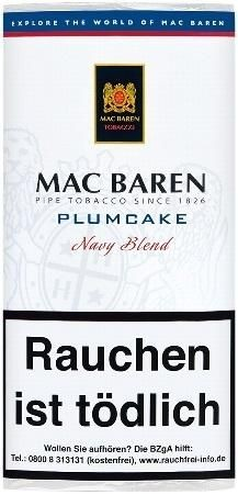 5x Mac Baren Plumcake (Navy Blend) Tabak 50g Pouch (Pfeifentabak)