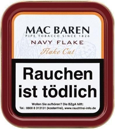 Mac Baren Navy Flake Tabak 50g Dose (Pfeifentabak)