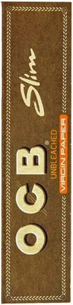 5 x 32 Blatt OCB Unbleached Slim Drehpapier/ Blättchen/ Zigarettenpapier