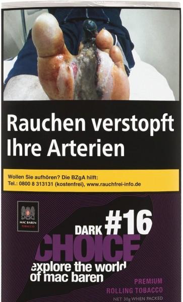 Mac Baren Choice Dark No.16 Tabak 30g Pouch (Drehtabak / Feinschnitt)
