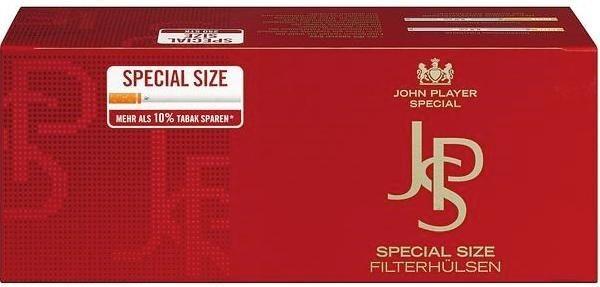 1000 Stück JPS Red Special Size Hülsen Filterhülsen Zigarettenhülsen Stopfhülsen