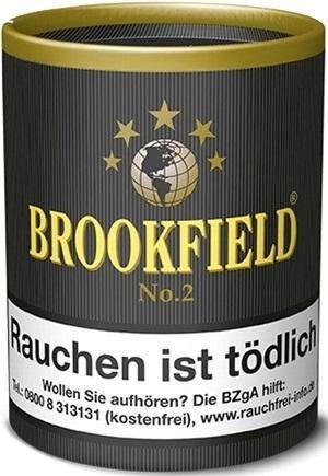 Brookfield No.2 (Black Vanilla) Tabak 200g Dose (Pfeifentabak)