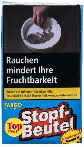 10x Fargo blau Sparbeutel Tabak 30g Pouch (Drehtabak / Feinschnitt)