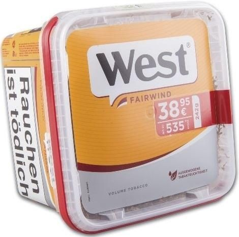 West Yellow (Fairwind) Jumbo Box Tabak 280g Eimer (Stopftabak / Volumentabak)