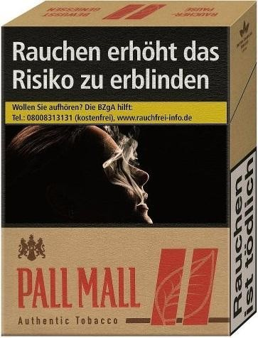 Pall Mall Authentic Red (Stange / 8x22 Zigaretten)