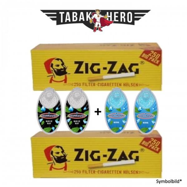 Aromakugeln, Aromakapseln - 2+2 Menthol Test Paket für Zigaretten & Zigarillos