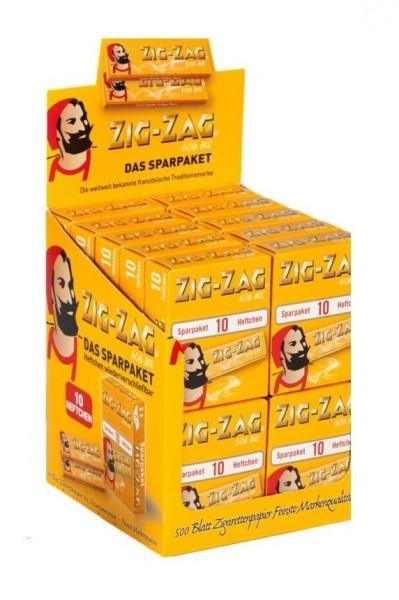 5 x 500 Blatt Zig Zag Sparpaket Drehpapier/ Blättchen/ Zigarettenpapier