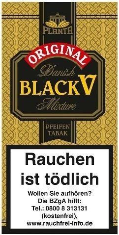 5x Danish Black V (Vanilla) Tabak 40g Pouch (Pfeifentabak)