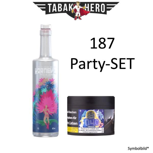 187 SET Karneval Vodka alc.40Vol.% + 187 Shisha Tabak 040 Hamburg