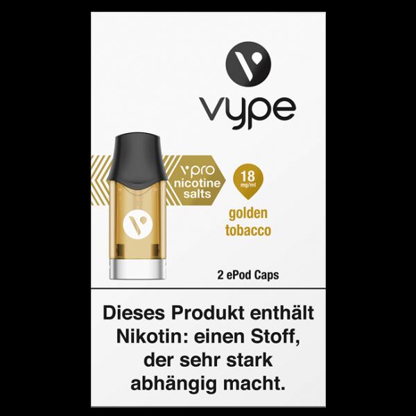 Vuse (Vype) ePod Caps Golden Tobacco 18mg