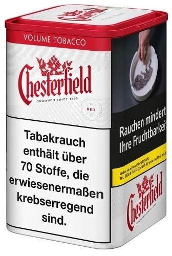 4x Chesterfield Red Tabak 95g Dose (Stopftabak / Volumentabak)