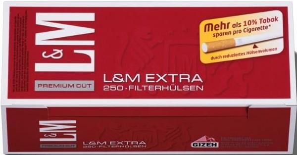 L&M Red Extra Hülsen Filterhülsen Zigarettenhülsen Stopfhülsen 250 Stück