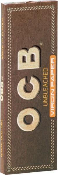 10 x 50 Blatt OCB Unbleached kurz Drehpapier/ Blättchen/ Zigarettenpapier