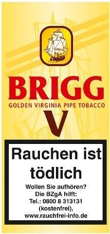 5x Brigg V (Vanilla) Tabak 40g Pouch (Pfeifentabak)