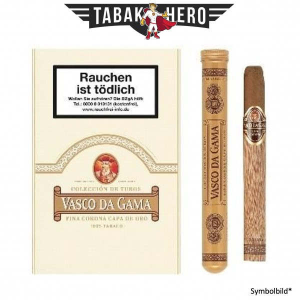 Vasco Da Gama 72 Capa de Oro Tubos (3 Zigarren)