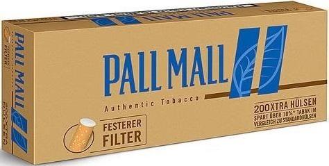 2000 Stück Pall Mall Authentic Blue Xtra Hülsen Filterhülsen Zigarettenhülsen