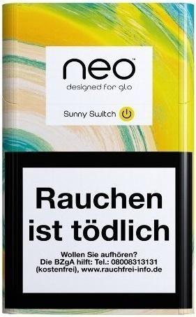neo Sticks Sunny Switch für Glo Tabakerhitzer - Tabaksticks (Stange / 10x20 Stück)