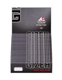 Gizeh Black KS Slim Drehpapier/ Blättchen/ Zigarettenpapier 25 Pack 825 Blatt