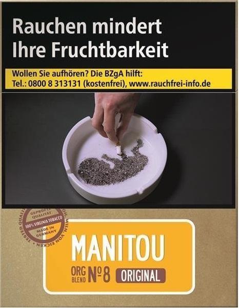 Manitou Org. No8 Gold Big Zigaretten (25 Stück)