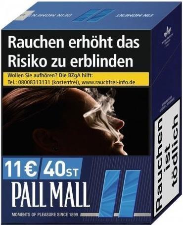 Pall Mall Blue (Stange / 5x38 Zigaretten)