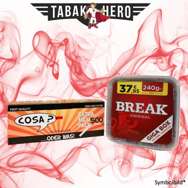 240g Break Original Tabak, 500 Cosa Hülsen (Stopftabak Volumentabak)