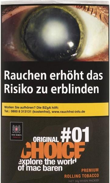Mac Baren Choice Original No.1 Tabak 30g Pouch (Drehtabak / Feinschnitt)
