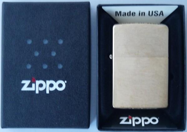 Zippo Messing gebürstet Feuerzeug Lighter Benzinfeuerzeug