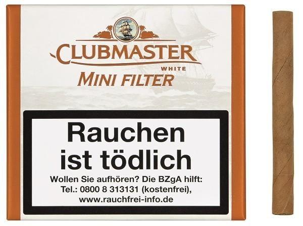 Clubmaster 176 Mini White Filter (5 x 20 Zigarillos)