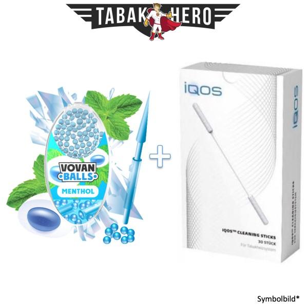 HEETS / IQOS Cleaning Sticks + 1x Aromakugeln Menthol 100 stk.
