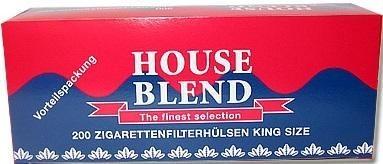House Blend Hülsen Filterhülsen Zigarettenhülsen Stopfhülsen 200 Stück