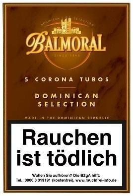 Balmoral Dominican Selection Corona Tubos (5x5 Zigarren)