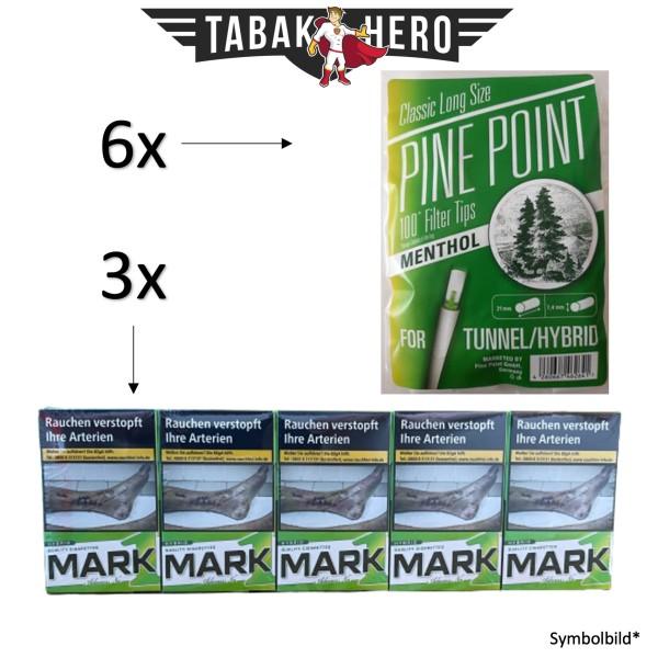 3x Mark Adams No.1 Hybrid (Stange 10x20 Zigaretten) + 6x Pine Point Menthol Filter