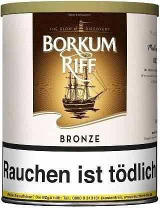 Borkum Riff Bronze (Bourbon Whiskey) Tabak 200g Dose (Pfeifentabak)