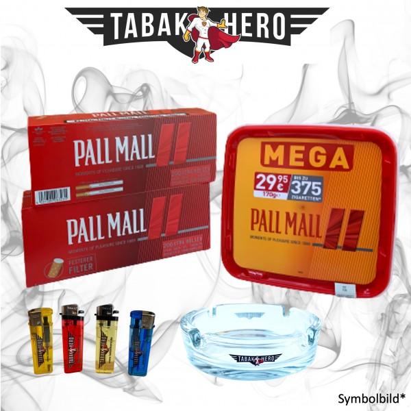155g Pall Mall Allround Red Mega Box Tabak, 400 Hülsen, Stopftabak, Volumentabak