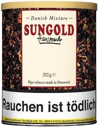 Danish Mixture Sungold Hausmarke (Vanille) Tabak 200g Dose (Pfeifentabak)