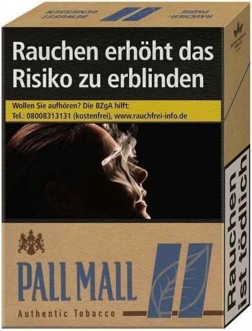 Pall Mall Authentic Blue (Stange / 8x22 Zigaretten)