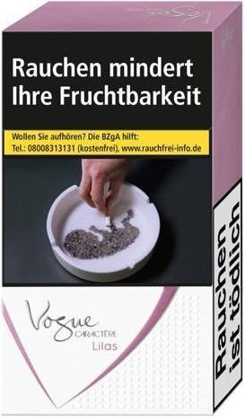 Vogue Caractere Lilas Zigaretten (20 Stück)
