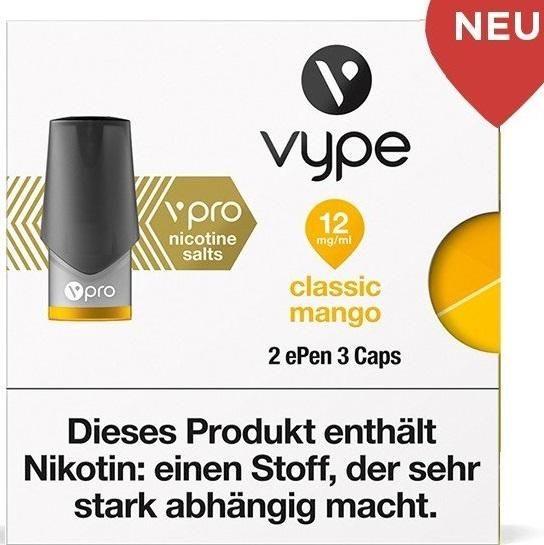 Vuse (Vype) ePen Caps Blushed Mango 12mg