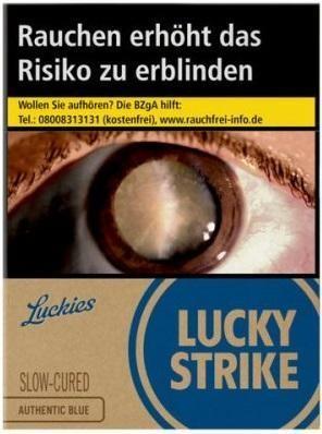 Lucky Strike Authentic Blue (Stange / 8x32 Zigaretten)