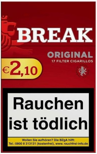 Break Original Filtercigarillo (10 x 17 Zigarillos)