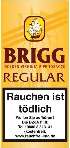 5x Brigg Regular Tabak 40g Pouch (Pfeifentabak)