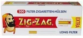 2000 Stück Zig Zag Extra Hülsen Filterhülsen Zigarettenhülsen Stopfhülsen